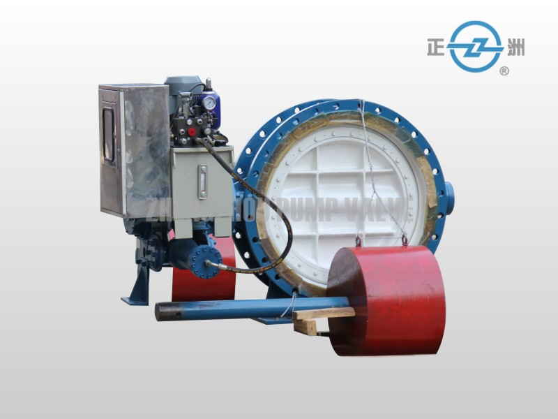 Hydraulic counterweight flanged butterfly valve