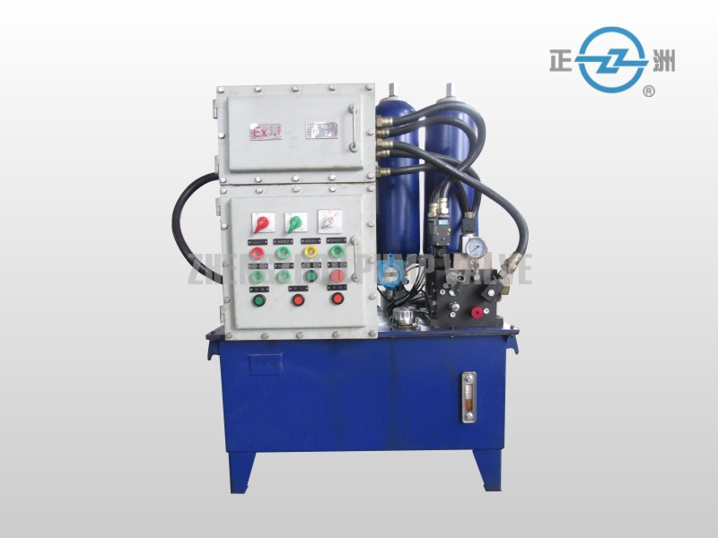 Hydraulic power station for valves
