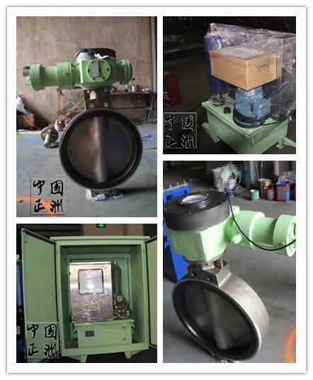 Rubber lined butterfly valve for special purpose